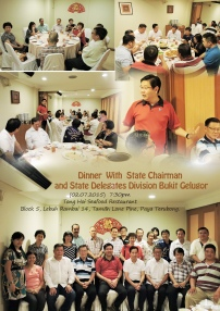 Dinner with State Chairman & State Delegate Division Bukit Gelugor