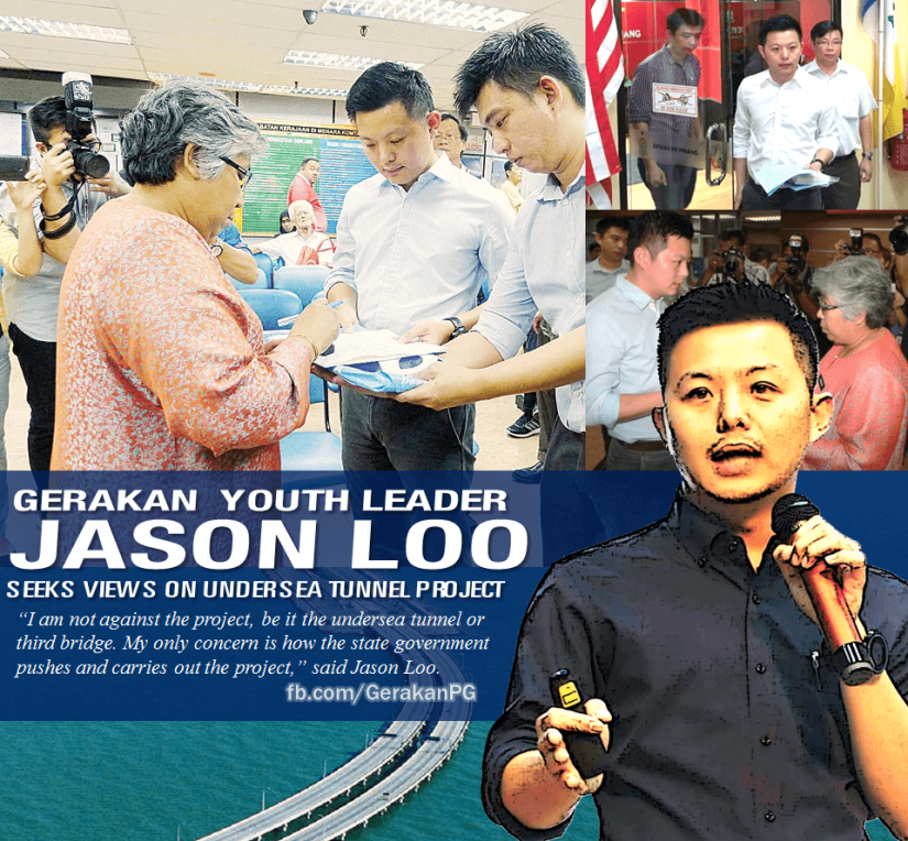 Gerakan Youth leader Jason Loo seeks views on undersea tunnel project